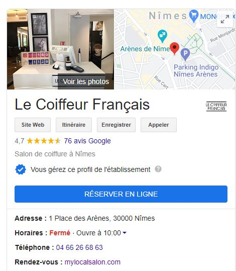 Coiffeur Nimes avec avis clients 5 étoiles sur Google Avis