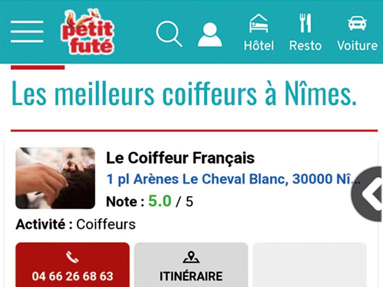 Meilleur coiffeur nimles 2018 2019 2020 : Le coiffeur Français sur la place des arènes à Nimes